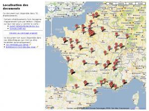 Exemple de géolocalisation d'exemplaires