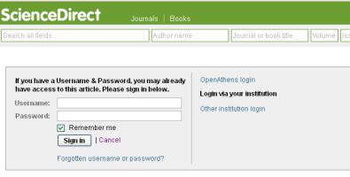 Elsevier - accès refusé