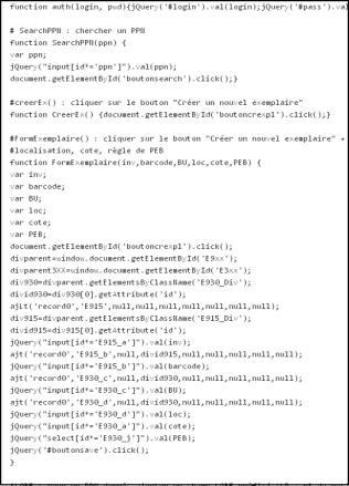 code - extrait
